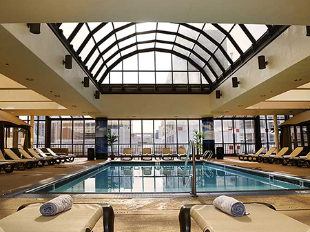 hotels near atlantic city with pool at the claridge a radisson hotel